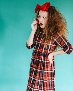 Daily Dress // Holiday plaid PREORDER