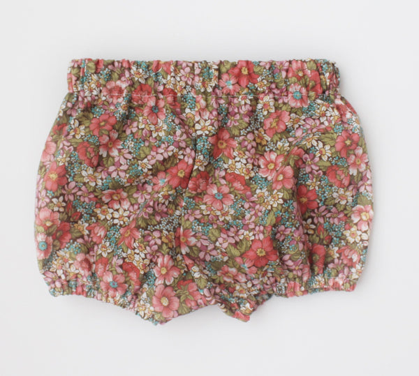 Brown Floral Bloomers