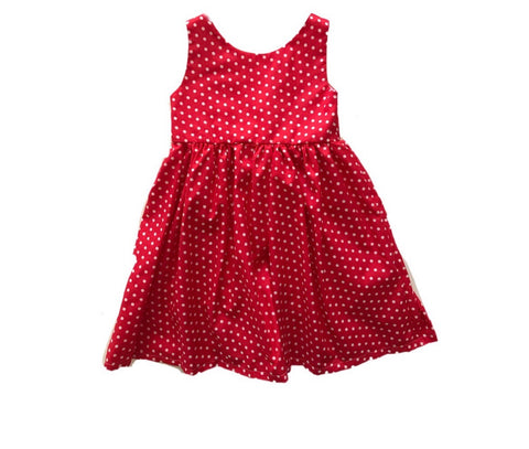 Polka Dot Dress-Red