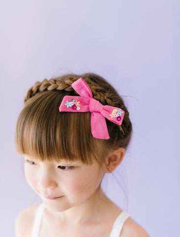 Sequin Bow // Pink