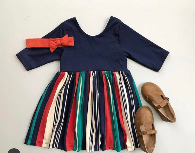 Daily Dress in Sailor Stripe