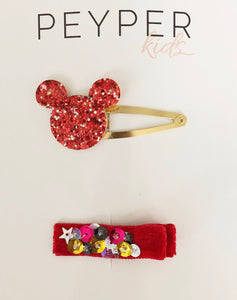 Disney Mouse Clip Set (Red)