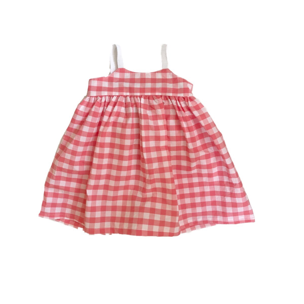 Elle Dress - Peach Gingham