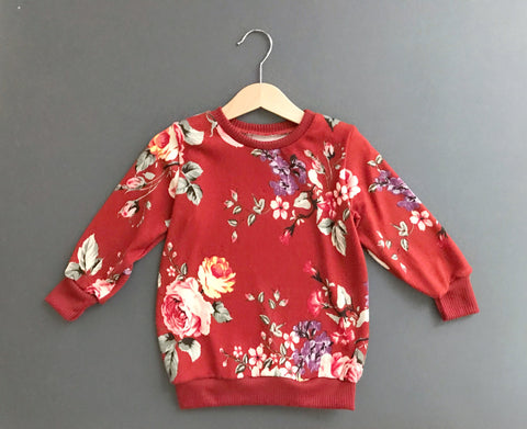 Pullover-Floral Rust