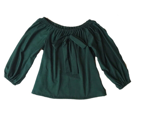 Smock Top in Forest