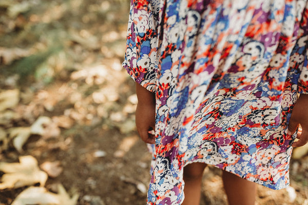 Heidi Dress in Autumn Floral
