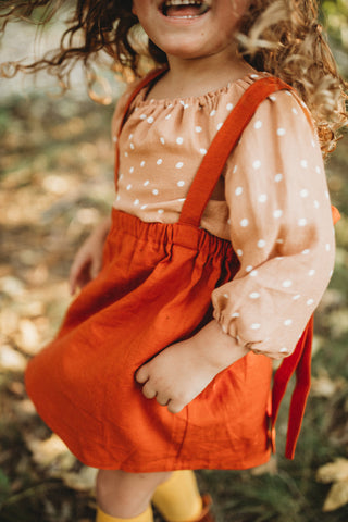 Smock Top in Clementine