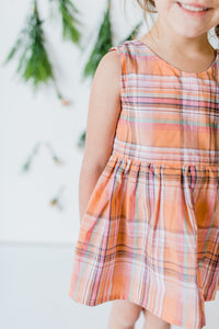 Sherbet Plaid Top