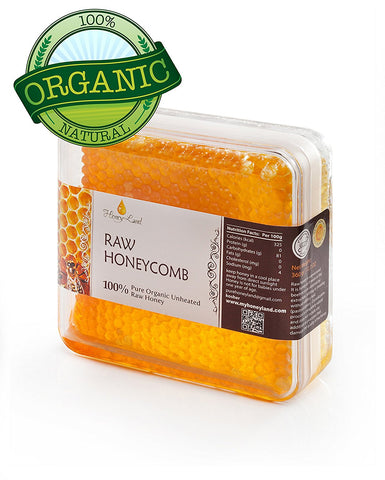 100% Pure raw organic unfiltered honeycomb 360gr
