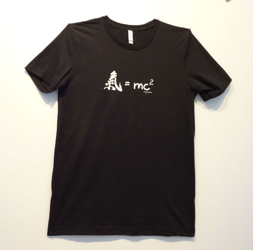 Aikido inspired black T-shirt by Shihan Harvey Konigsberg that says,