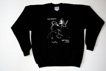 "Original Aikido art on a black t-shirt by Shihan Konigsberg Sensei that says, ""True Victory Is Self Victory."""