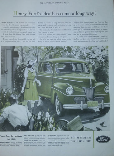 1941 Ford Advertisement