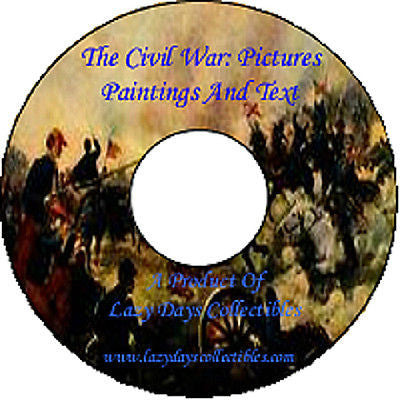 Vintage The Civil War Pictures Paintings And Text On CD