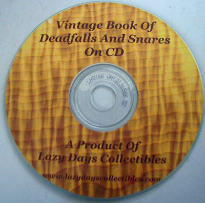 Vintage Book Of Deadfalls And Snares On CD