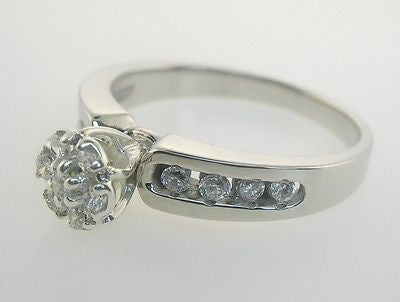 .50 Carat Genuine Diamond Engagement Ring 14kt White Gold Sizes 3-10