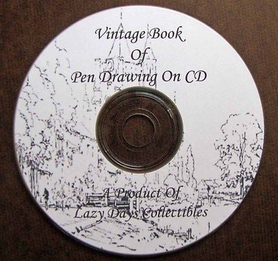 The Vintage Book Of Pen Drawing On CD