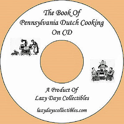 Vintage Pennsylvania Dutch Cooking On CD