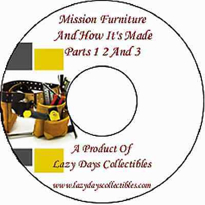 Vintage Book Of Mission Furniture And How to Make It On CD Parts 1 2  3