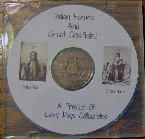 Vintage Book Of Indian Heroes And Great Chieftains On CD