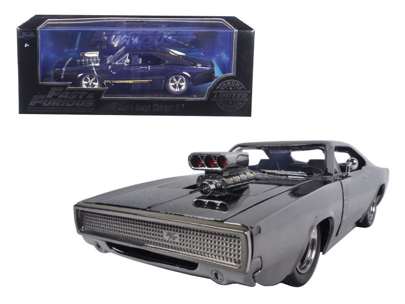 Dom's Dodge Charger R/T Chrome Limited Edition Fast & Furious Movie 1/24 Diecast