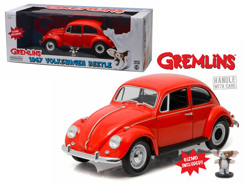1967 Volkswagen Beetle Gremlins Movie (1984) with Gizmo Figure 1/18 Diecast
