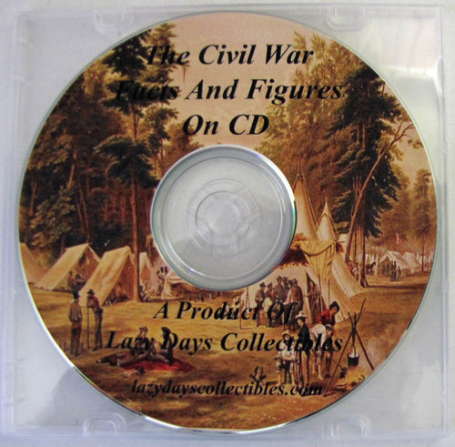 The Civil War Facts And Figures On CD