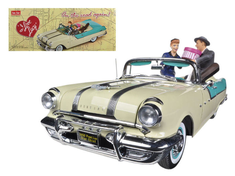 1955 Pontiac Star Chief I Love Lucy On The Road Again with figurine 1/18 Diecast