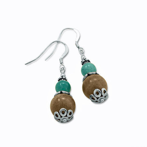 Sterling Silver Baila Luna Labradorite Drop Earrings
