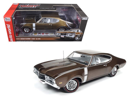 1968 Oldsmobile Cutlass 442 Hardtop Cinnamon Bronze Limited Edition to 1002 pcs