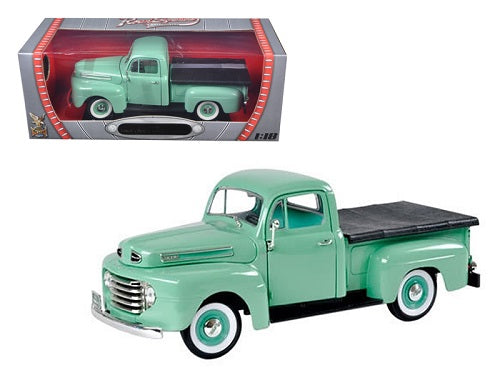 1948 Ford F1 Pickup TruckGreen1/18 Diecast Model Car by Road Signature