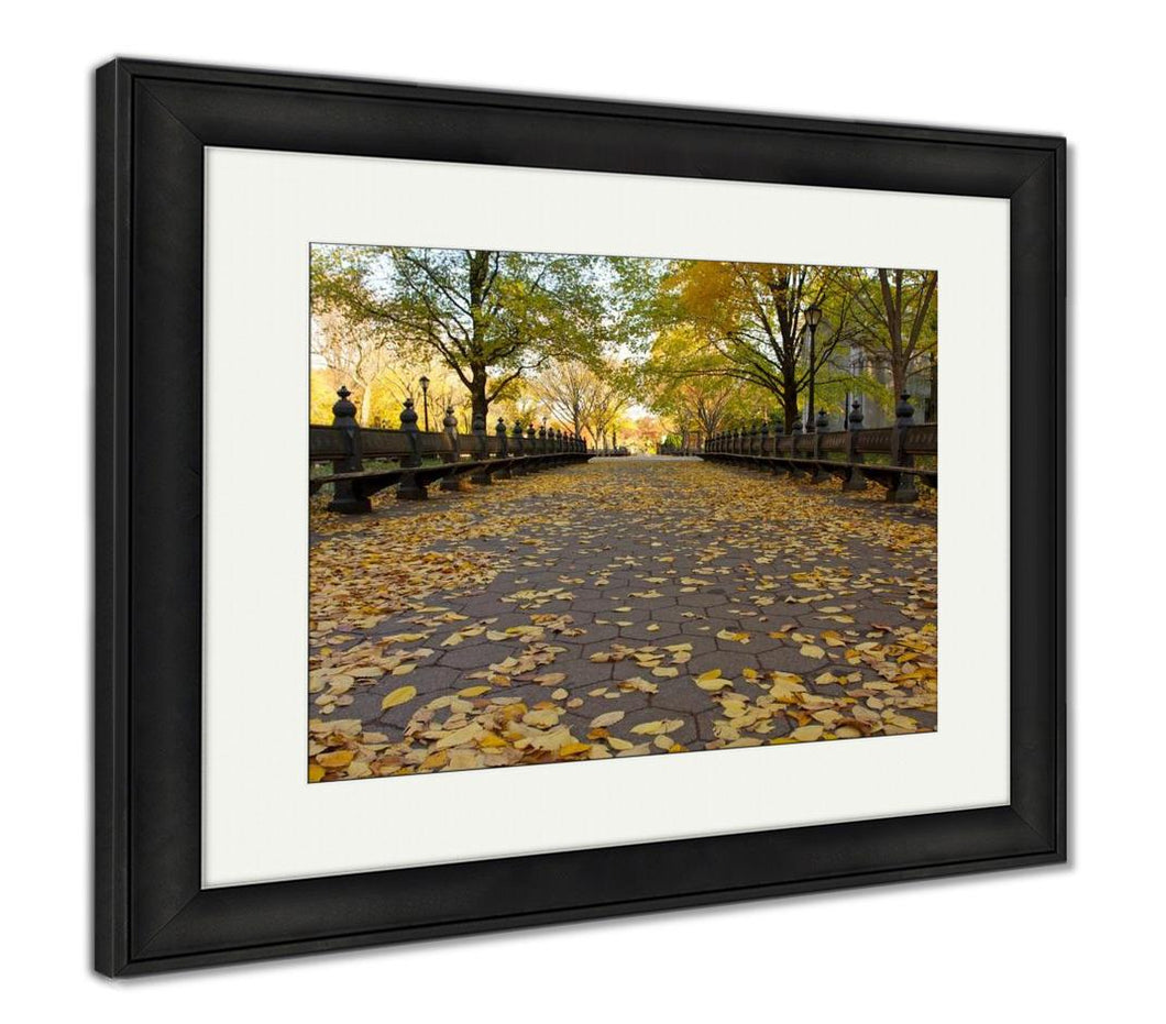 Framed Print, Autumn In Central Park New York