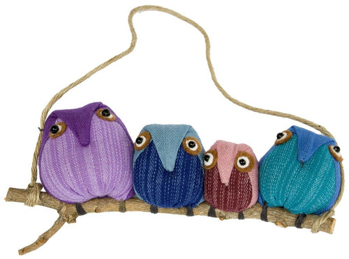 OWL ORNAMENT: FAMILY OF 4 - MARQUET