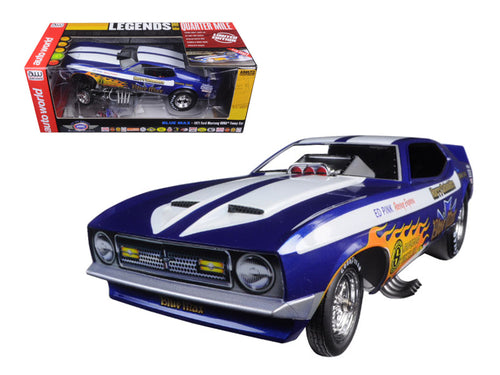 1971 Ford Mustang Blue Max Richard Tharp Funny Car Limited Edition to 750pcs 1/18 Model Car by Autoworld