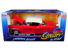 "1958 Chevrolet Impala Red or Black ""Lowrider Series"" Street Low 1/24 Diecast Model Car by Jada"