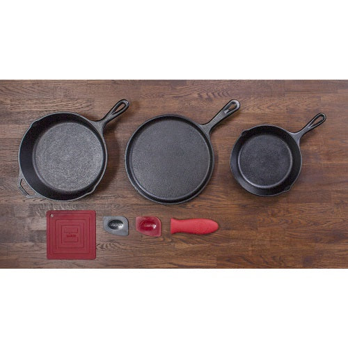 Lodge Logic Essential Skillet Set, Seven-Piece Set