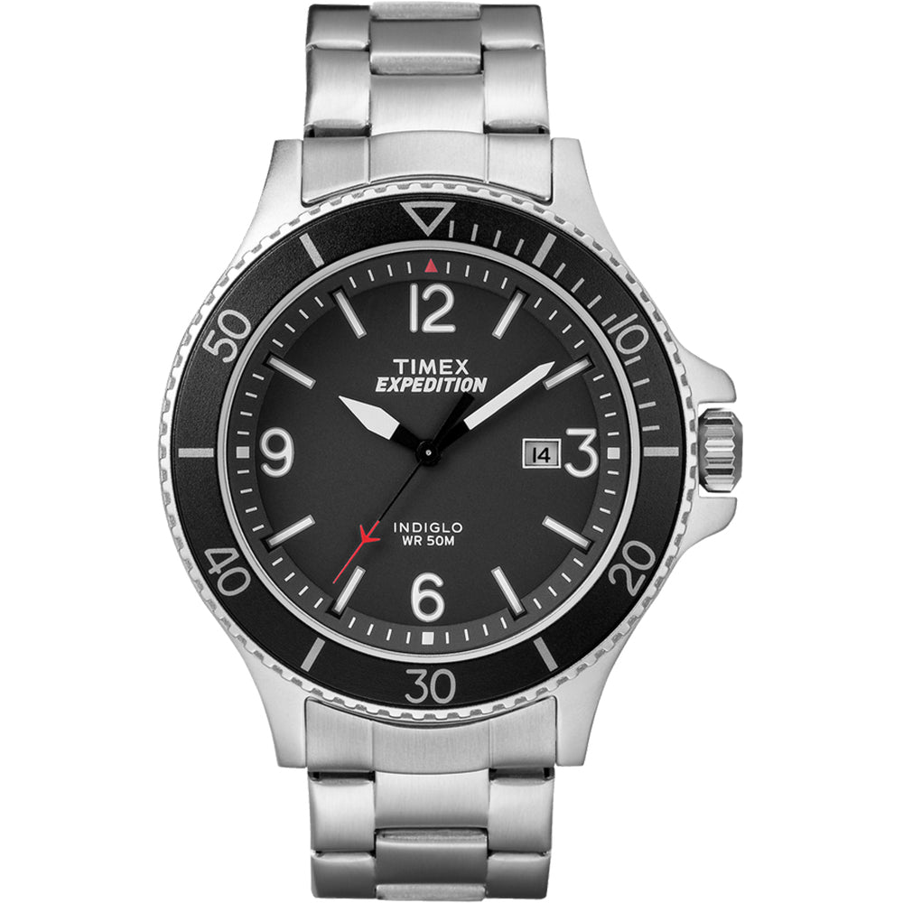 TIMEX EXPEDITION® RANGER STAINLESS STEEL WATCH - BLACK FREE SHIPPING!