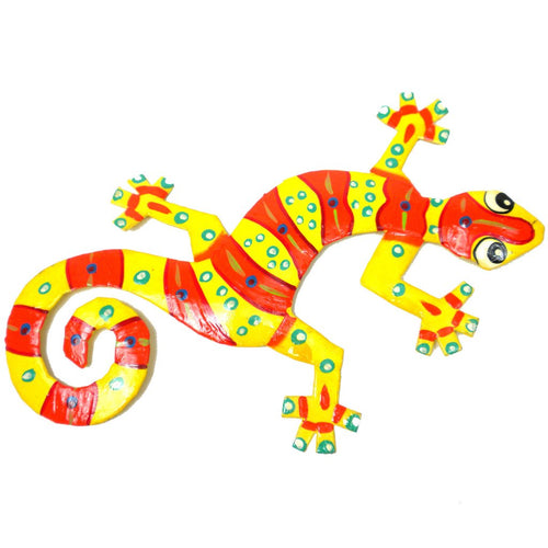 EIGHT INCH CLOWN DESIGN METAL GECKO