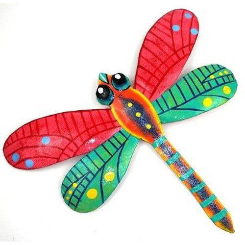 PINK METAL DRAGONFLY - 11 INCHES -