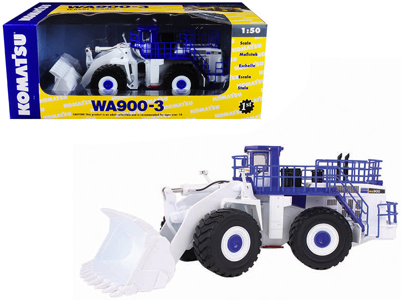 Komatsu WA900-3 Wheel Loader White Demo 1/50 Diecast Model by First Gear