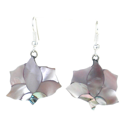 ABALONE PINK LOTUS EARRINGS