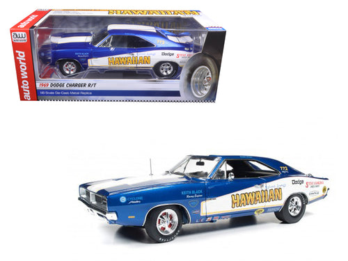 1969 Dodge Charger Hawaiian Funny Car Tribute Limited Edition to 1002pcs 1/18 Diecast Model Car by Autoworld