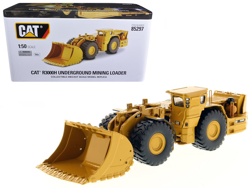 CAT Caterpillar R3000H Underground Wheel Loader with Operator High Line Series 1/50 Diecast Model by Diecast Masters