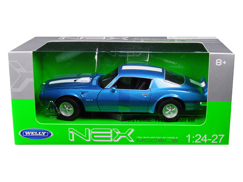 1972 Pontiac Firebird Trans AM 1/24 - 1/27 Diecast Model Car by Welly Blue