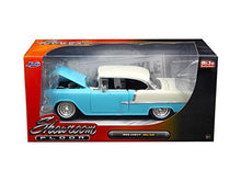 "1955 Chevrolet Bel Air Hard Top Red or Blue ""Showroom Floor"" 1/24 Diecast Model Car by Jada"