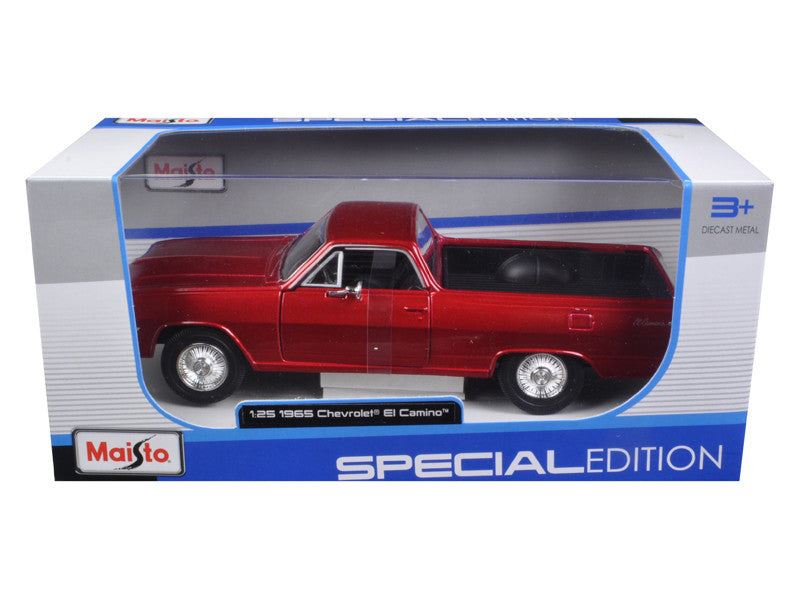 1965 Chevrolet El Camino Metallic Red 1/25 Diecast Model Car by Maisto