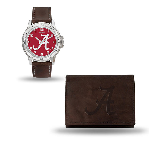 Alabama Crimson Tide Brown Watch/Wallet Gift Set