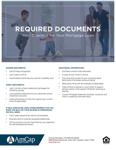 AmCap Required Documents Flyer (FREE DOWNLOAD)