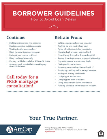 Borrowers' Guidelines Flyer (FREE DOWNLOAD)