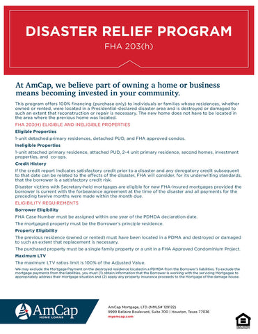 AmCap FHA 203(h) Flyer (FREE DOWNLOAD)