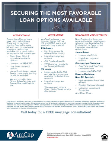 AmCap Loan Programs Flyer (FREE DOWNLOAD)